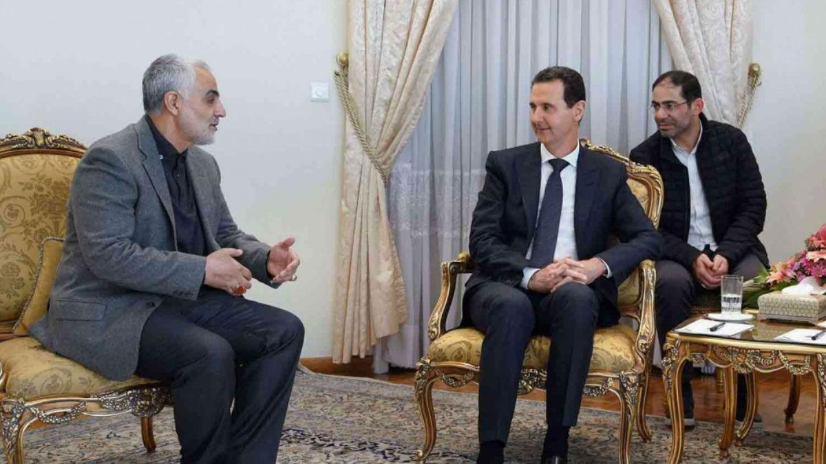 بشار الأسد وقاسم سليماني