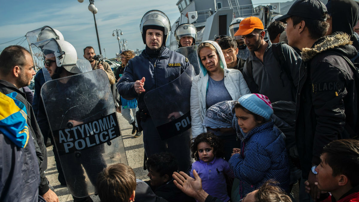 refugees in greece